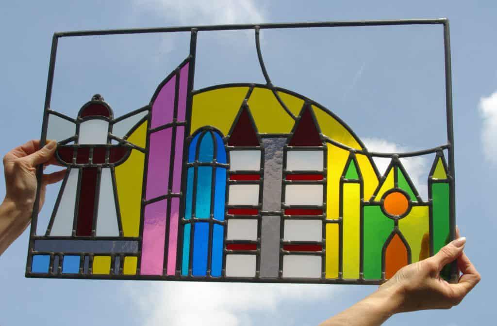 Glas Den Haag.De Skyline Van Den Haag In Glas In Lood Atelier Glas Loes